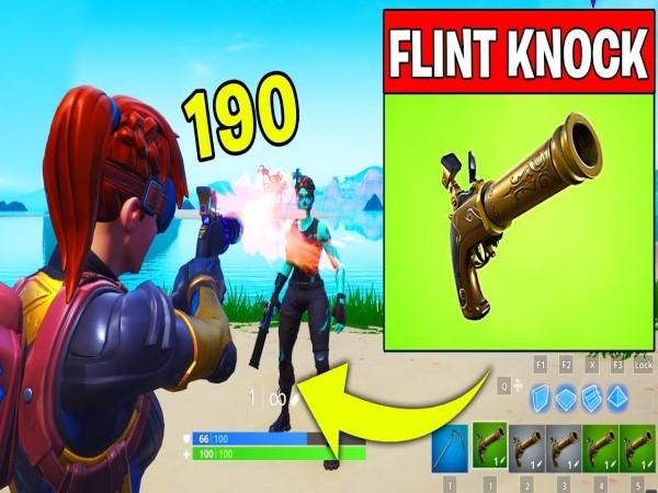 khau sung tung phat 1 flint knock - Game Fortnite - súng lục bắn từng phát update mới