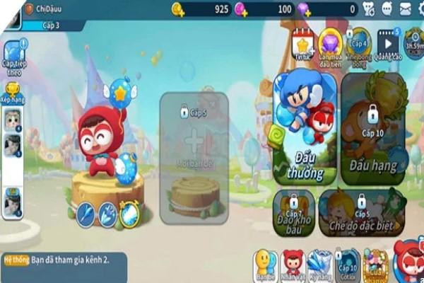 nhan vat trong game Boom M