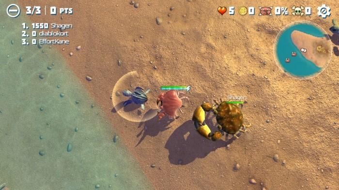 game vua cua với bí kíp chơi là ăn ngay con nhỏ và tránh con cua lớn