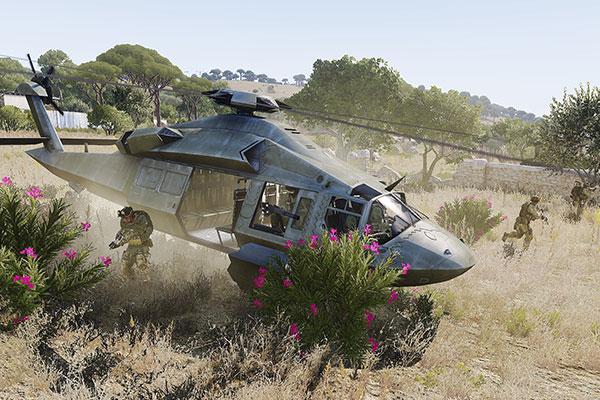Có nhiều phương tiện quân sự trong game đặc biệt là máy bay và xe đổ bộ
