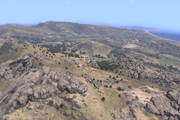 Địa hình tại đảo Altis sẽ là khó khăn mà người chơi cần chinh phục