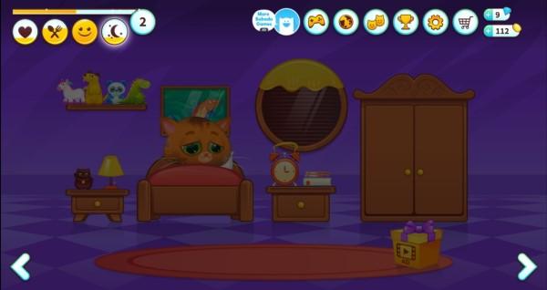 Bubadu đi ngủ trong phòng ngủ