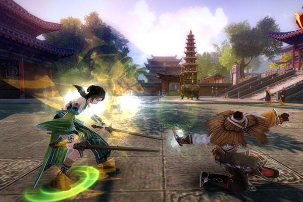 Giao diện đấu lôi đài trong game Cửu Dương Thần Công