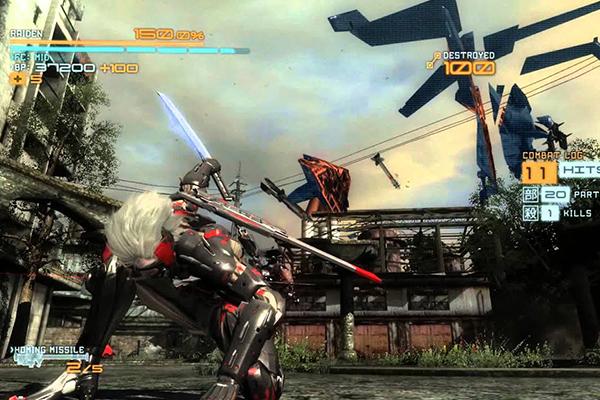 Metal Gear Rising: Revengeance (2013) có phụ bản chiến đấu rất khác biệt do với dòng game khác