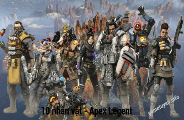 Có 10 nhân vật trong apex game pc