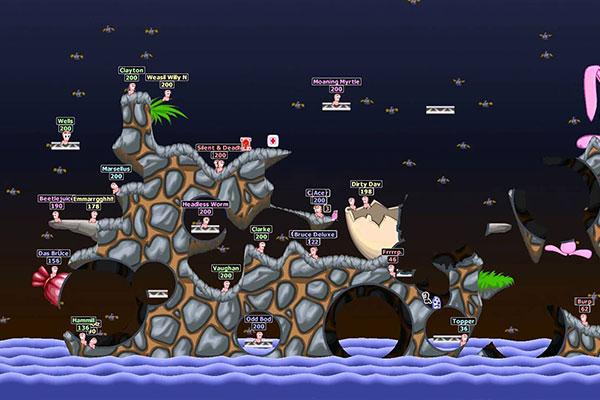Worm World Party game chiến trường bắn sâu rất vui nhộn