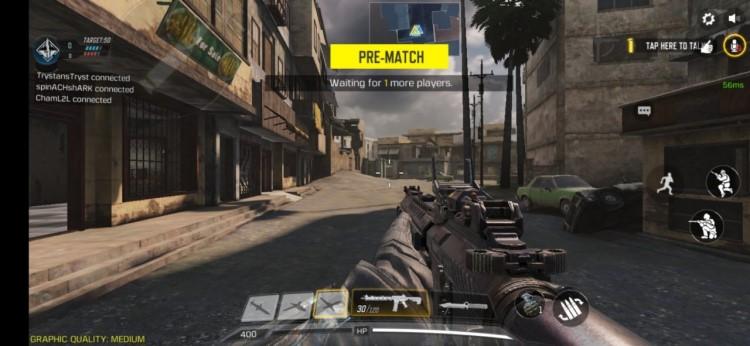 Chuẩn bị bước vào 1 trận chiến trong call of Duty mobile