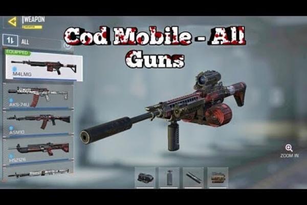 Danh sách các loại súng và phụ kiện trong Call of Duty Mobile