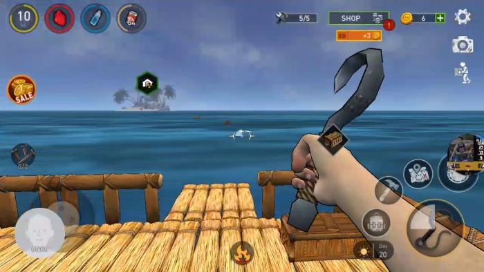 ocean nomad play game sinh tồn trên bè