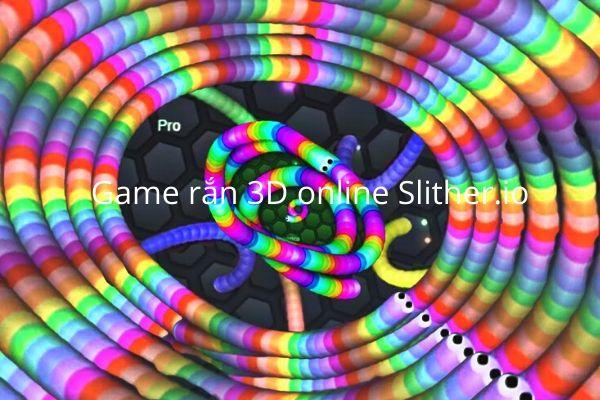 slither.io game rắn săn mồi 3D màu sắc sặc sỡ