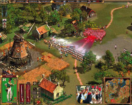 Hình ảnh cánh đồng lúa và 1 trận giao tranh game Cossack back to war
