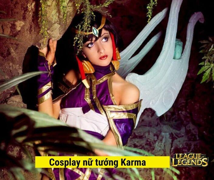 Hình tượng Cosplay Nữ tướng Karma game liên minh huyền thoại