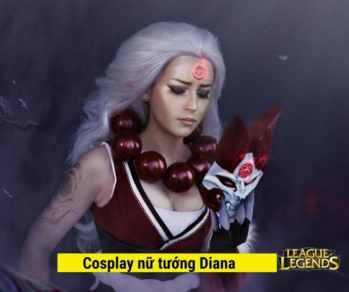 Cosplay Nữ tướng diana game liên minh huyền thoại