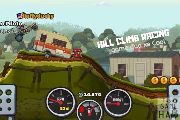 trò chơi đua xe di động Hill Climb Racing có 2 bản 1 và 2
