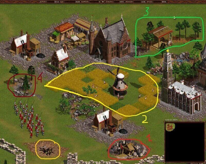 Thu thập tài nguyên cách chơi trong game Cossack