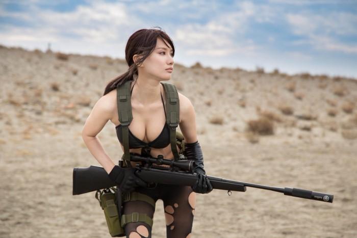 tạo hình hotgirl pubg với khẩu sniper AWM