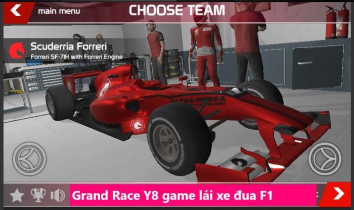 Grand Race Y8 game lái xe đua F1