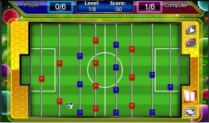 Table Soccer game đá banh bàn Y8