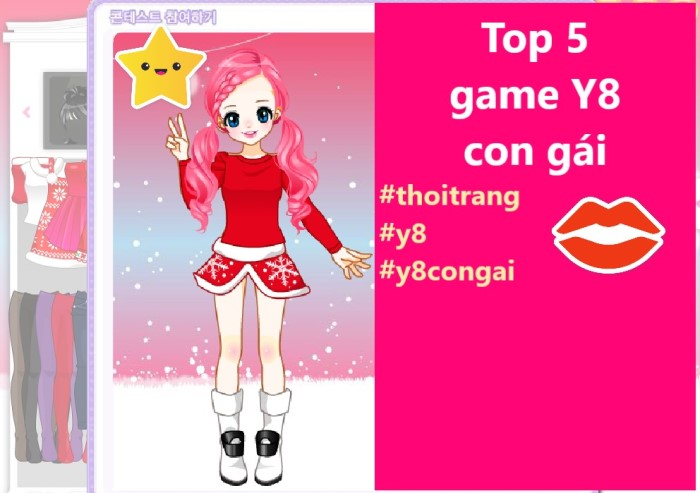 List 5 game Y8 con gái thời trang điệu 1