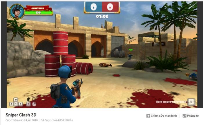 cách chơi game Y8 bắn súng Sniper 3D