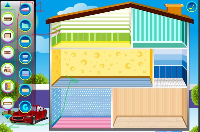 Doll House - game Y8.com con gái chơi xếp đồ ngôi nhà búp bê