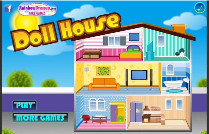 Doll house game Y8 con gái và trẻ em chơi
