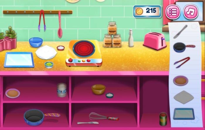 game vui Y8 nấu ăn chọn lựa các đồ vật trong bếp