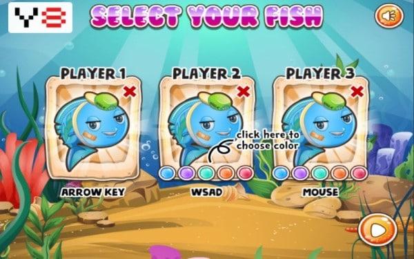 Fish Eat Fish game Y8 3 người chơi