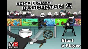 Sticker Figure  Badminton