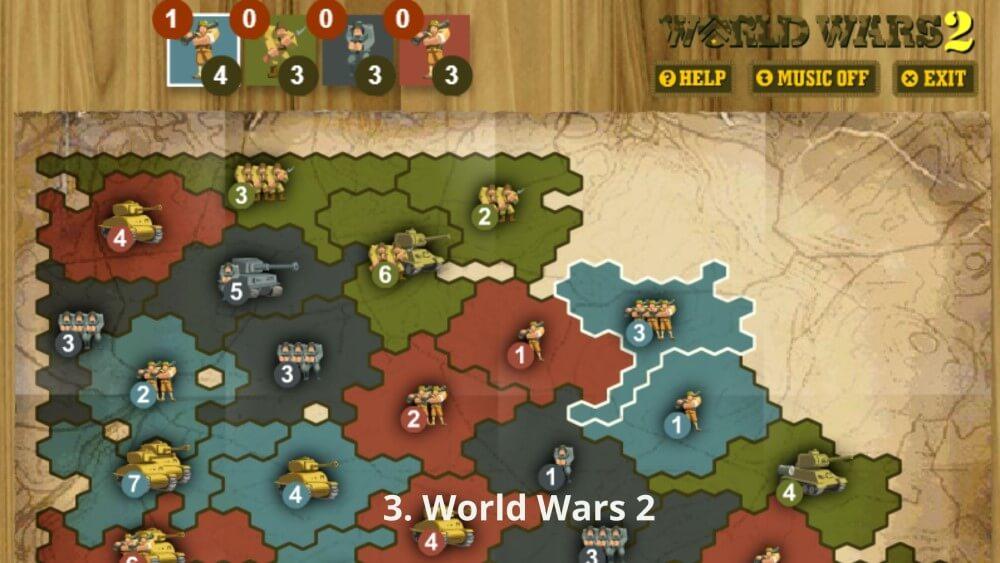 World Wars 2 là thể loại games dàn trận chiến thuật theo lượt