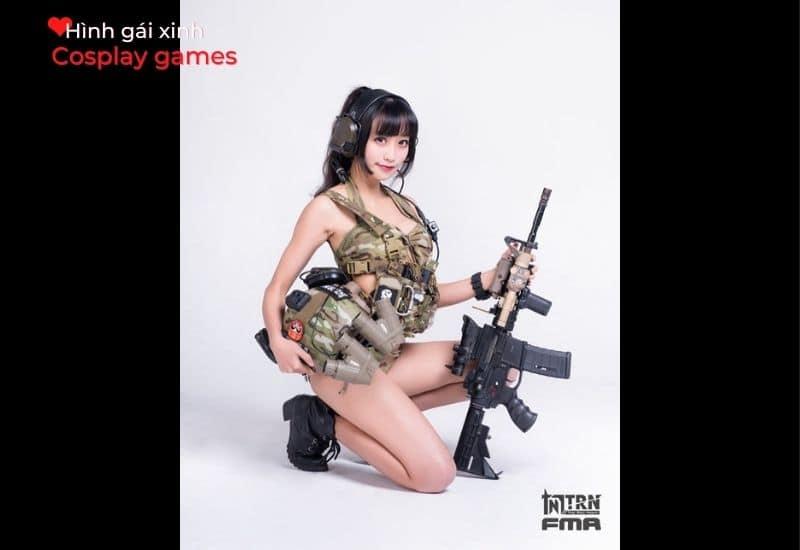 Hình Cosplay game của hot girl châu Á xinh đẹp
