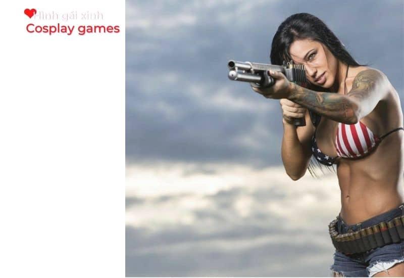 Gái đẹp cùng khẩu súng Shortgun cực ngầu