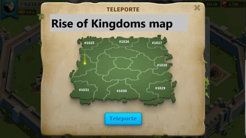 Rise of Kingdoms map có gì