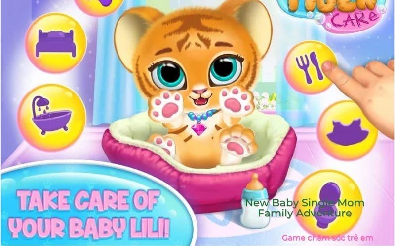 Baby Tiger Care game chăm sóc bé hổ