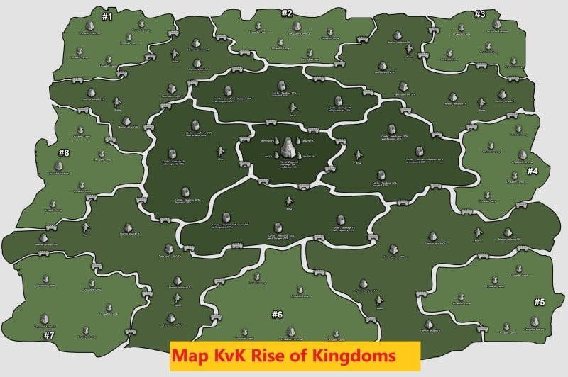 Map KVK Rise of Kingdoms vương quốc đã mất