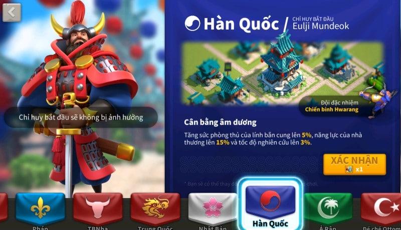 Hàn Quốc xứ sở Kim chi trong game mobile ROK