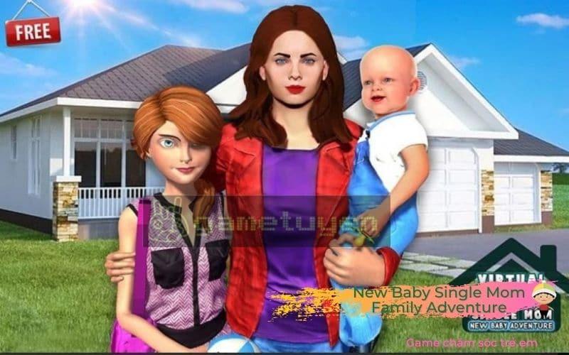 New Baby Single Mom Family Adventure game chăm sóc trẻ dưới vai 1 bà mẹ đơn thân