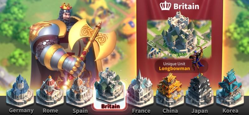 Nước Anh trong game ROK