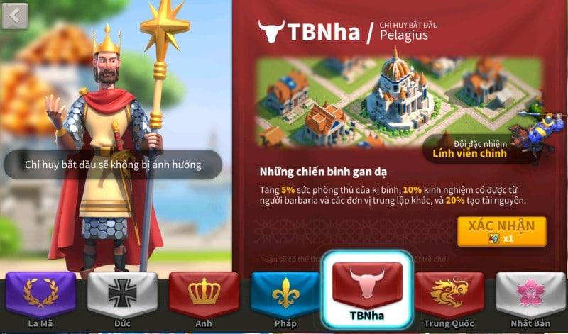 Tây Ban Nha những chiến binh gan dạ trong game Rise of Kingdoms