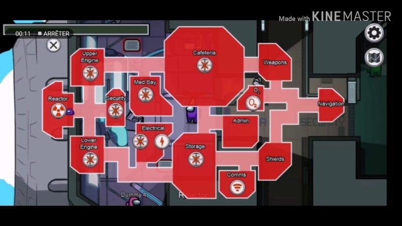 Bản đồ trong phi thuyền game among US